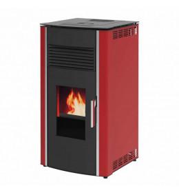 termor beograd alfa plam peć peći na pelet luca r a+ crvena boja   peć na pelet omotač od lima vrata od čelika