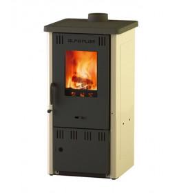 termor beograd alfa plam peć peći na čvrsto gorivo elita 2 bež boja livena ploča staklo na vratima ložišta