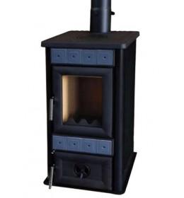 termor beograd alfa plam peć peći na čvrsto gorivo lara crna boja keramičke pločice staklo na vratima ložišta