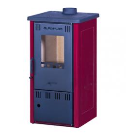 termor beograd alfa plam peć peći na čvrsto gorivo elita 2 crvena boja livena ploča staklo na vratima ložišta