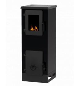 termor beograd alfa plam peć peći na čvrsto gorivo crna boja livena plotna livena vrata  ložišta ima staklo na vratima ložišta