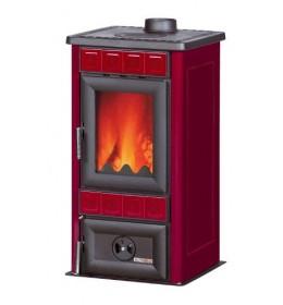 termor beograd alfa plam peć peći na čvrsto gorivo lara crvena boja keramičke pločice staklo na vratima ložišta